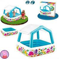 Детский надувной бассейн Intex 57470 Аквариум со съемным навесом, клапан для слива воды