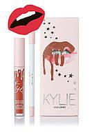Матовая помада Kylie Lipstick & Lip Liner (набор помада и карандаш) Cherry Pie (реплика)