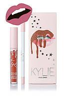 Матовая помада Kylie Lipstick & Lip Liner (набор помада и карандаш) Posie K (реплика)