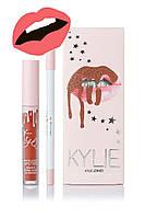 Матовая помада Kylie Lipstick & Lip Liner (набор помада и карандаш) Baby Girl (реплика)