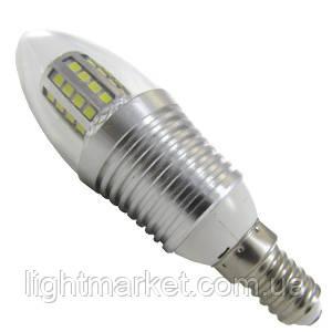 Лампа LED свеча АВаТар прозрачная колба 7W 220V E14 желтый свет, фото 2