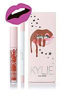 Матовая помада Kylie Lipstick & Lip Liner (набор помада и карандаш) August Bug (реплика)