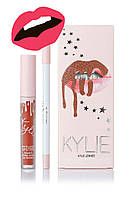 Матовая помада Kylie Lipstick & Lip Liner (набор помада и карандаш) All Nighter (реплика)
