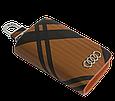 Ключница Carss с логотипом AUDI 01014 карбон коричневый, фото 4