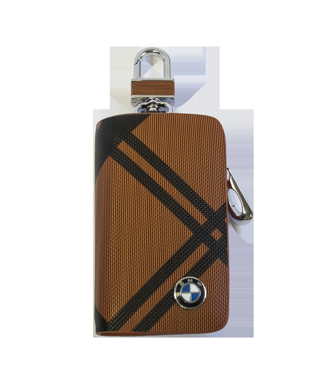 Ключниця Carss з логотипом BMW 12014 карбон коричневий