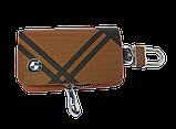 Ключниця Carss з логотипом BMW 12014 карбон коричневий, фото 2