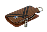Ключниця Carss з логотипом BMW 12014 карбон коричневий, фото 3