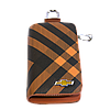 Ключница Carss с логотипом CHEVROLET 14014 карбон коричневый