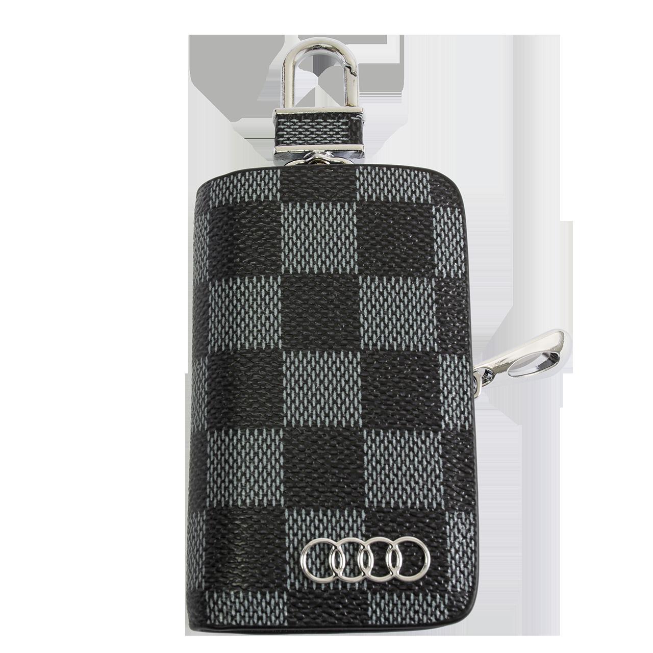 Ключница Carss с логотипом AUDI 01013 карбон серый