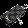 Ключница Carss с логотипом AUDI 01013 карбон серый, фото 2