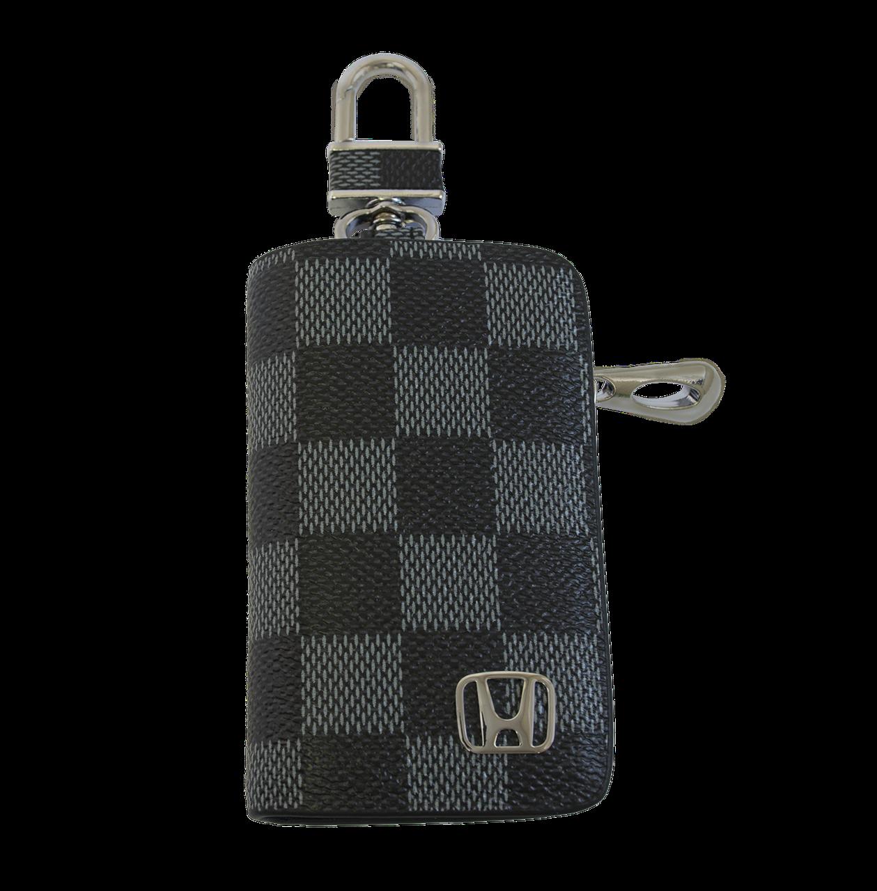 Ключница Carss с логотипом HONDA 08013 карбон серый