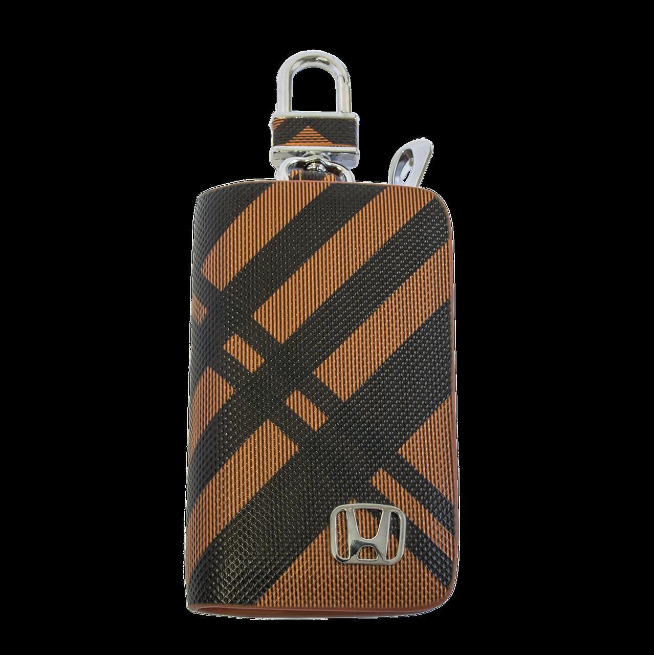 Ключница Carss с логотипом HONDA 08014 карбон коричневый