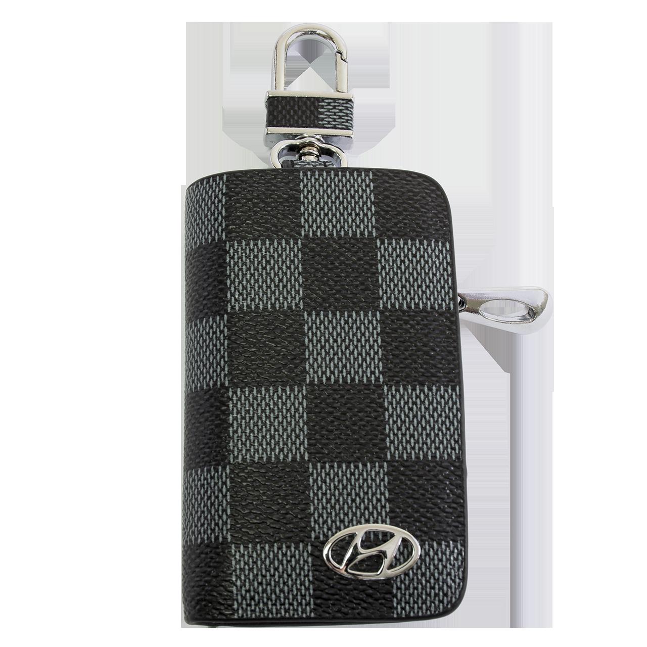 Ключница Carss с логотипом HYUNDAI 10013 карбон серый