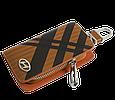 Ключница Carss с логотипом HYUNDAI 10014 карбон коричневый, фото 2
