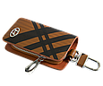 Ключница Carss с логотипом HYUNDAI 10014 карбон коричневый, фото 3