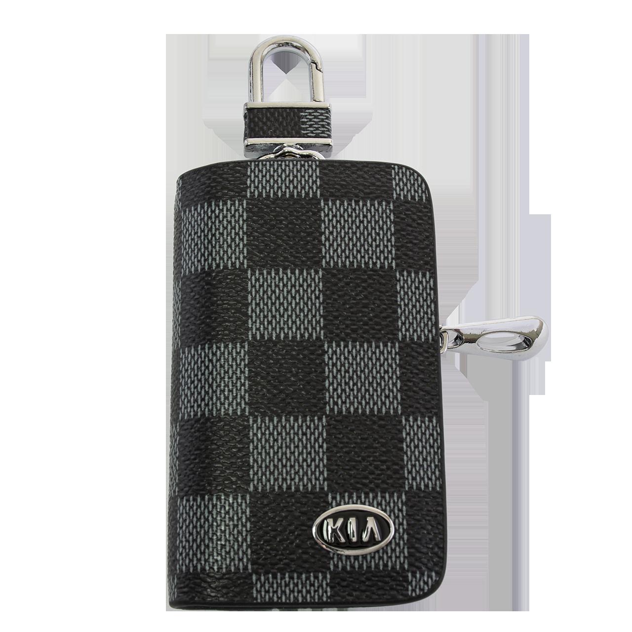 Ключница Carss с логотипом KIA 05013 карбон серый
