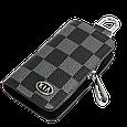Ключница Carss с логотипом KIA 05013 карбон серый, фото 2