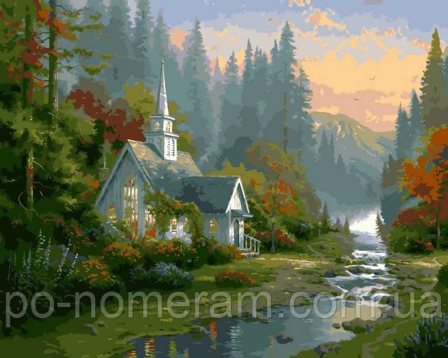 Томас Кинкейд картина Домик на рассвете