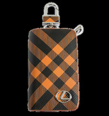 Ключница Carss с логотипом LEXUS 13014 карбон коричневый