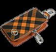 Ключница Carss с логотипом LEXUS 13014 карбон коричневый, фото 2