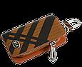 Ключница Carss с логотипом KIA 05014 карбон коричневый, фото 2