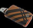 Ключница Carss с логотипом KIA 05014 карбон коричневый, фото 3