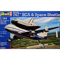 Сборная модель Revell Космический корабль и самолет Space Shuttle&Boeing 747 1:144 (4863)