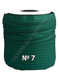 Молния спиральная метражная №7, 200 м в бобине, цв. темно-зеленый (С869)