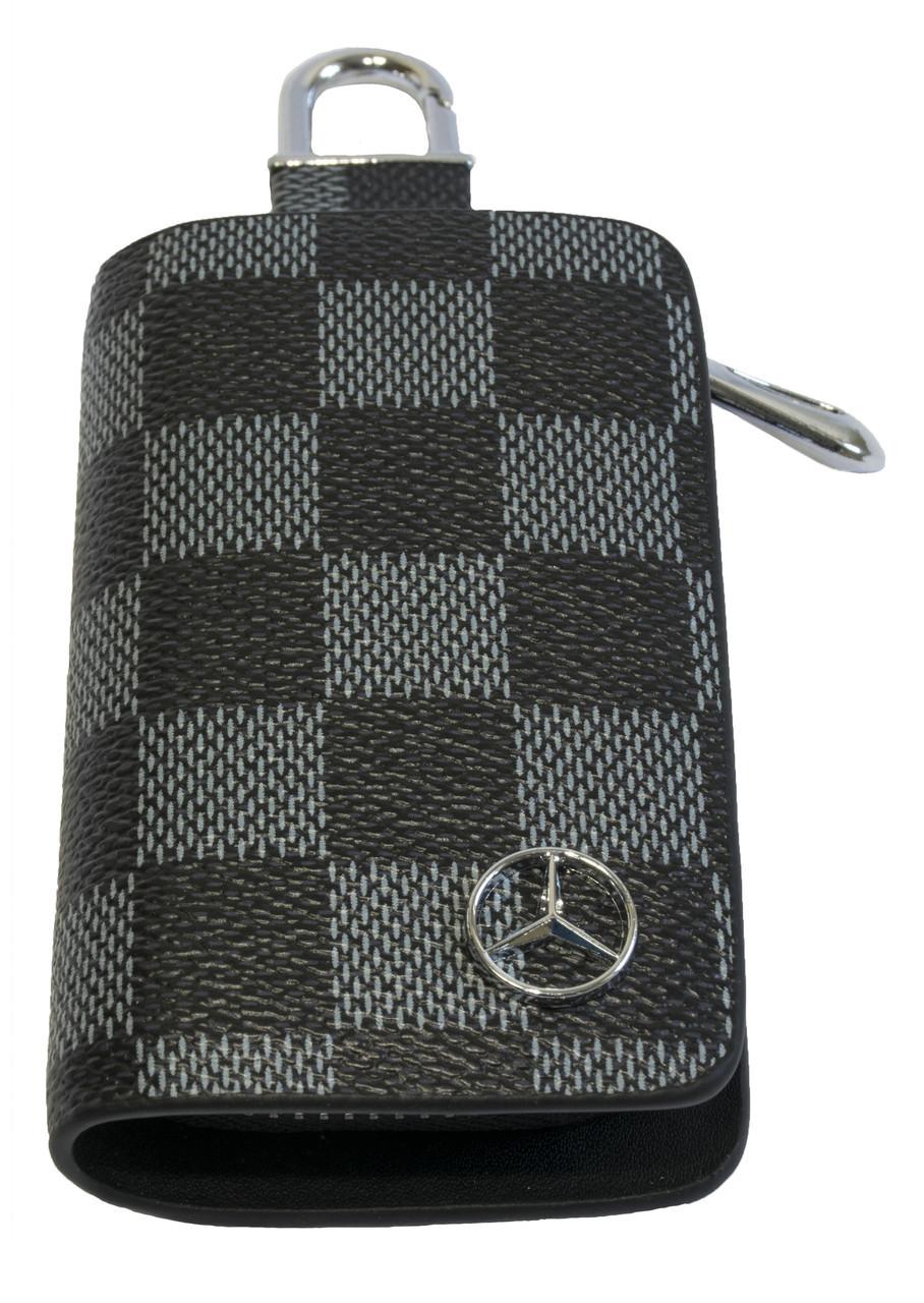 Ключница Carss с логотипом MERCEDES 02013 карбон серый