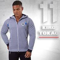 Спортивная толстовка мужская меланж Kiro Tokao - 183 серый