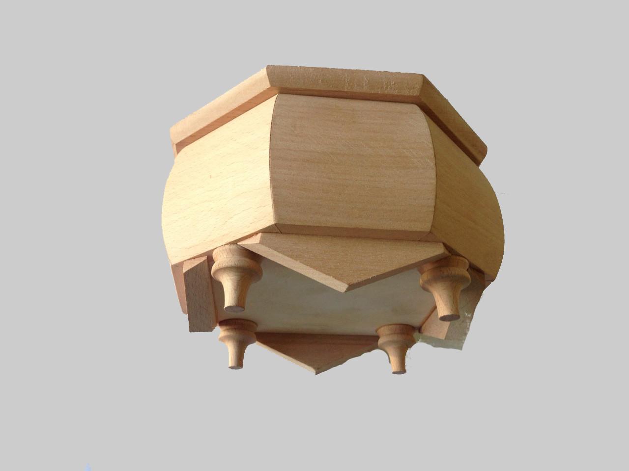 Шкатулка деревянная резьбленная чистая под декупаж17*17*10
