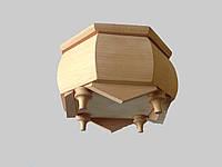 Шкатулка деревянная резьбленная чистая под декупаж17*17*10, фото 1