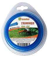 """Леска для триммера TRIMMER """"звезда"""" 2,4х15 блистер, ZTG2415B"""