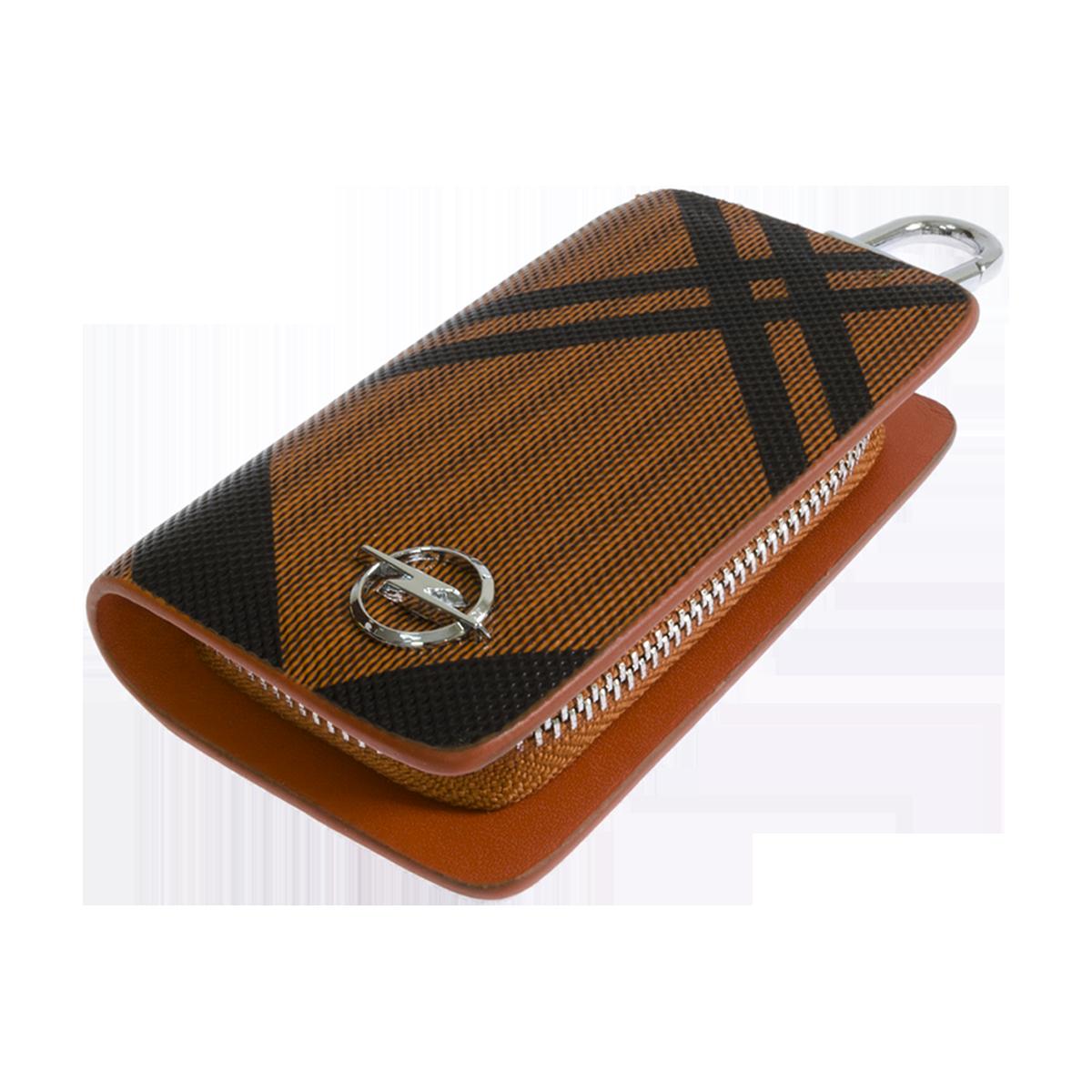 Ключница Carss с логотипом OPEL 18014 карбон коричневый