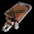 Ключница Carss с логотипом OPEL 18014 карбон коричневый, фото 2