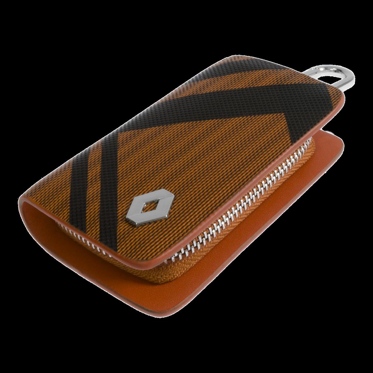 Ключница Carss с логотипом RENAULT 20014 карбон коричневый