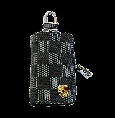 Ключница Carss с логотипом PORSCHE 06013 карбон серый