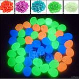 Набор люминесцентных камней - 10штук в наборе (размер одного камня 1,5-2,5см), оранжевые, фото 3