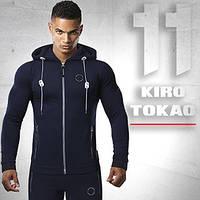 Толстовка спортивная Kiro Tokao - 156 темно-синяя