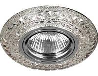 Светодиодный декор. светильник Feron CD 877 MR16 с LED подсветкой прозрачный Код.58561