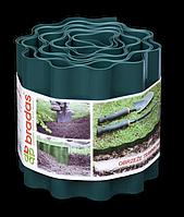 Лента бордюр волнистая 9м-10см-0,4мм, зеленая, OBFG 0910