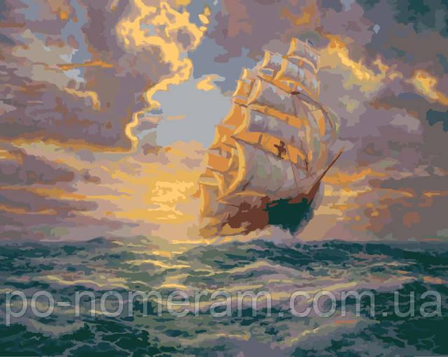 Рассвет под парусами, картина Томас Кинкейд