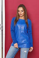 Блуза женская из экокожи