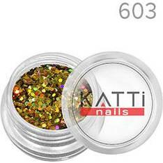 KATTi Блестки в баночке 040 LGS-603 оранж-золото мульти-перелив голографические