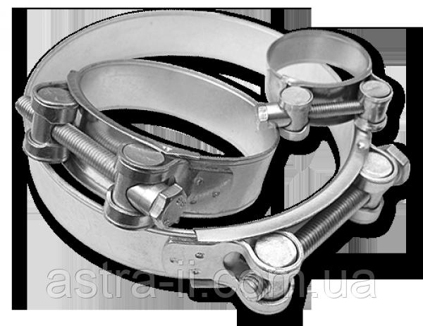 Хомут силовой одноболтовый GBS W1 131-139/26 мм, GBS135/26