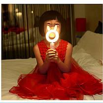 Светодиодная лампа с аккумулятором, лампа фонарь, LED pet lamp ( лампа с ушками ) светильник лед, фото 3