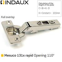 Петля накладная Indaux (Испани) Mesuco 131X rapid, фото 1