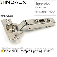 Петля накладная Indaux (Испани) Mesuco 131X rapid