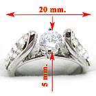 Кольцо Помолвочное под Белое Золото с Кристаллами Сваровски. Размеры 16, 17, 19, фото 3