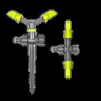 Ороситель вращающийся 2-х рожковый на колышке LIME EDITION, LE-6101